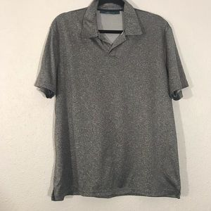 Perry Ellis Black & White Polo Shirt size L